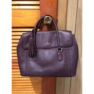 Purple Kate Spade Leather Satchel Bag